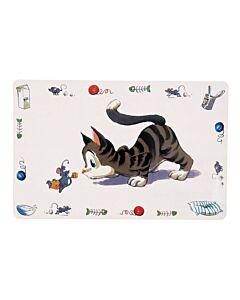 Trixie Napfunterlage Comic-Katze 44x28cm