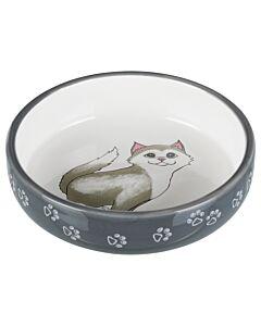 Trixie Keramiknapf Katze 0.3l grau/weiss