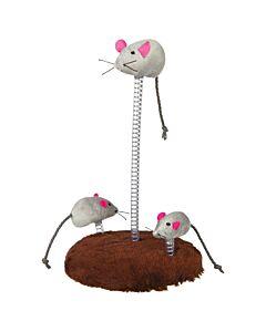 Trixie Mausfamilie auf Spiralfeder