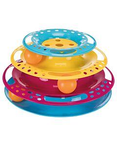 Trixie Tour de jeu pour chats Catch the Balls, plastique, ø 25 cm × 13 cm