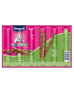 Vitakraft Vita Cat Stick mini Huhn & Katzengras 6er