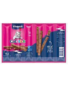 Vitakraft Vita Cat Stick mini 6er Kabeljau & Thun