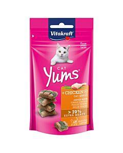 Vitakraft Vita Cat Yums Huhn & Katzengras 40g