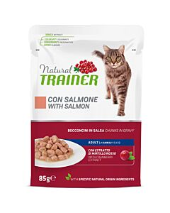Trainer Feline Natural Adult Salmon in Sauce 85g