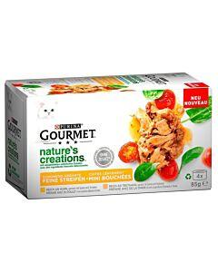 Gourmet Nourriture pour chat Nature's Creation Viande 4x85g