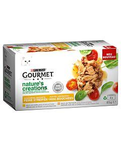 Gourmet Katzenfutter Nature's Creation Fleisch 12x4x85g