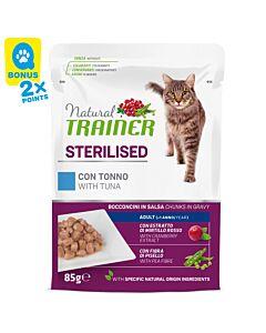 Trainer Natural Nourriture humide Sterilised Adult Thon 12x85g sachet