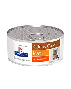Hill's VET Chat Prescription Diet k/d Renal Health haché avec du poulet