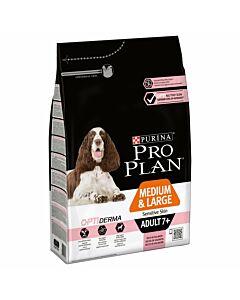 Pro Plan Dog Medium & Large Adult 7+ OPTI DERMA Lachs