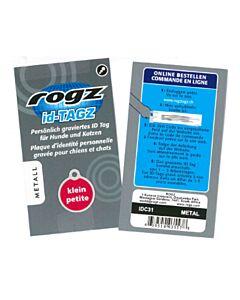Rogz ID-Tag plaque d'identité gravée