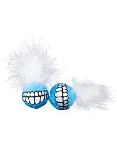 Rogz Katzenspielzeug Catnip Grinz Ball verschiedene Farben