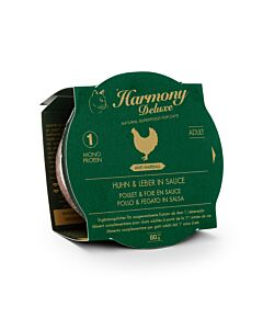 Harmony Cat Deluxe Cup Adult Huhn & Leber in Sauce Anti-Hairball
