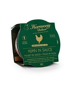 Harmony Cat Deluxe Cup Senior Huhn in Sauce Immun-Boost & Care