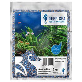 Deep Sea Quartz pour aquarium bleu-orange, 5kg