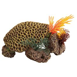 Deep Sea Aquariumdekoration Korallenriff gelb 17.5x14.5x8.5cm