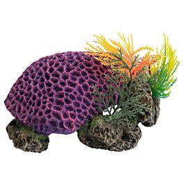 Deep Sea Décoration d'aquarium récif de corail violet 17.5x14.5x8.5cm