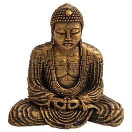 Deep Sea Aquariumdekoration Buddha gold 15.5x9.6x15.4cm