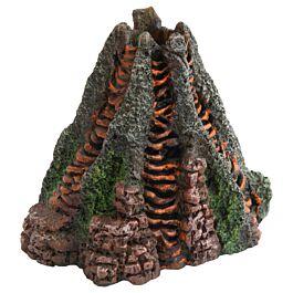 Deep Sea Décoration d'aquarium Volcan avec écoulement 14x13x12.5cm