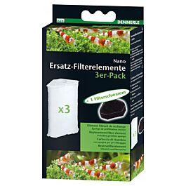 Dennerle Nano Ersatz-Filterelemente 3er Pack