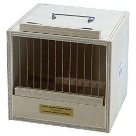 Box de transport en bois pour oiseaux