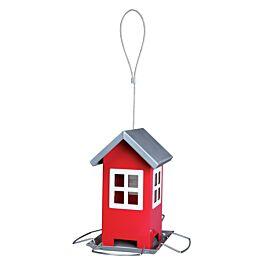 Trixie Futterhaus 1.000ml 19x20x19cm - Vogelhaus rot/silber