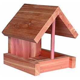 Natura Vogelhaus zum Aufhängen aus Zedernholz natur