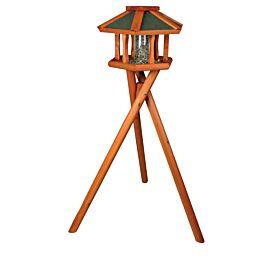Trixie Natura Vogelhaus mit Ständer aus Holz D=50x34cm braun