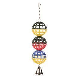 Trixie 3er Gitterball Kette/Glocke 16cm