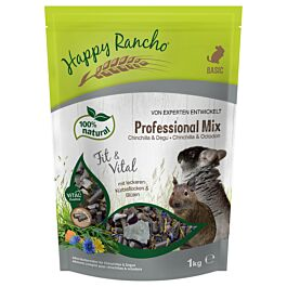 Happy Rancho Professional Mix Chinchilla & Degu Futter 1kg