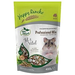Happy Rancho Professional Mix Zwerghamsterfutter 450g