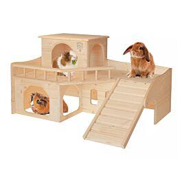 Resch Château pour lapins avec terrasse