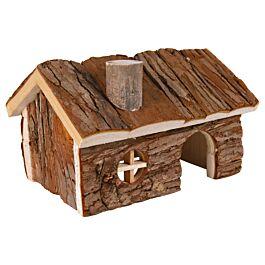 Trixie Hendrik XL Maison de hamster en bois naturel 20x13x13cm