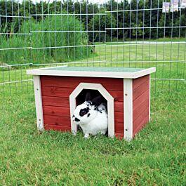 Maison pour petits animaux Natura 50x30x37cm, rouge-blanc