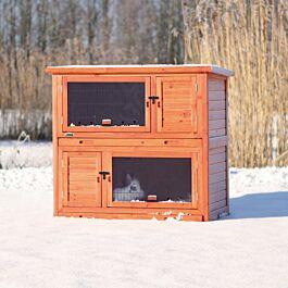 Clapier pour petits animaux Natura 116x65x113cm