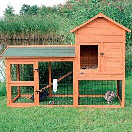 Clapier pour petits animaux Natura 199x93x146cm