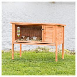 Clapier pour petits animaux Natura 116x63x92cm brun