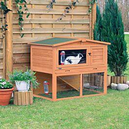 Trixie Clapier pour petits animaux Natura avec enclos 124x78x102cm