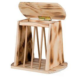 Trixie Heuraufe mit Deckel Holz 25x22x18cm