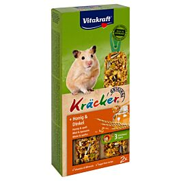 Vitakraft Kräcker Miel & épeautre hamsters 2 pièces