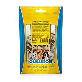 QUALIDOG Friandises pour chien Semi-Moist Soft Treats Large Agneau & Riz 150g