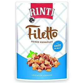 Rinti Filetto Hundefutter Huhnfilet mit Ente 100g