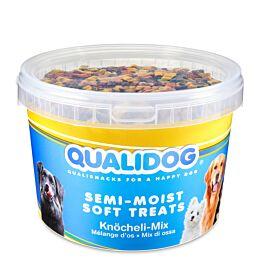 QUALIDOG Hundeleckerli Semi-Moist Knöcheli Mix 1.8kg