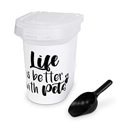 Freezack Vorratsbehälter Life is better with Pets 14L