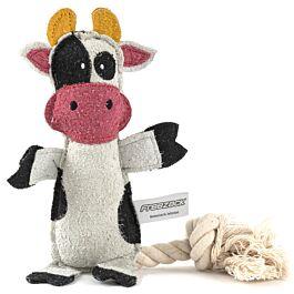 Freezack Hundespielzeug Kuh mit Seil