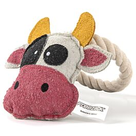 Freezack Hundespielzeug Kuh mit Kordel