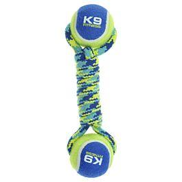 Zeus Hundespielzeug K9 Fitness Double Tennis Ball Rope