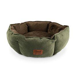 Freezack Hundebett Rectancle Styler braun/grün M
