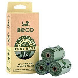 Beco Pets Hundekotbeutel Compostable Poop Bag 60 Travel