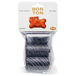 United Pets Paquet de rechange de sacs pour excréments de chien Bon Ton Skull noir
