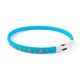 Freezack leuchtendes Halsband Flash snow blau